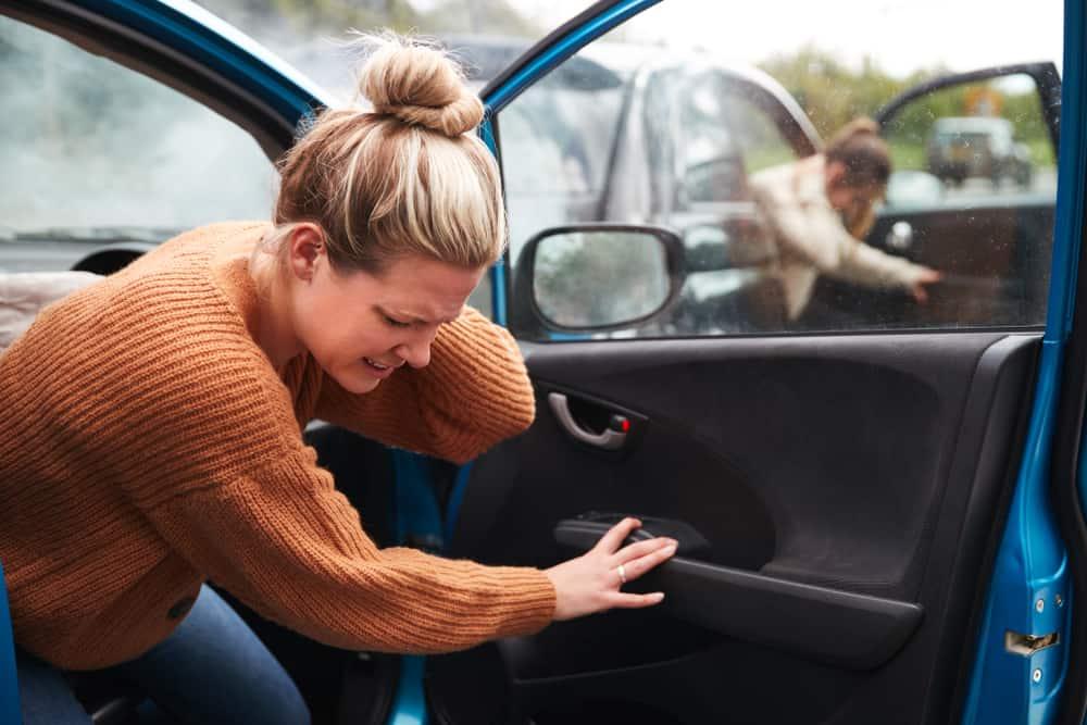 תאונת דרכים עם מעורבות שתי נשים